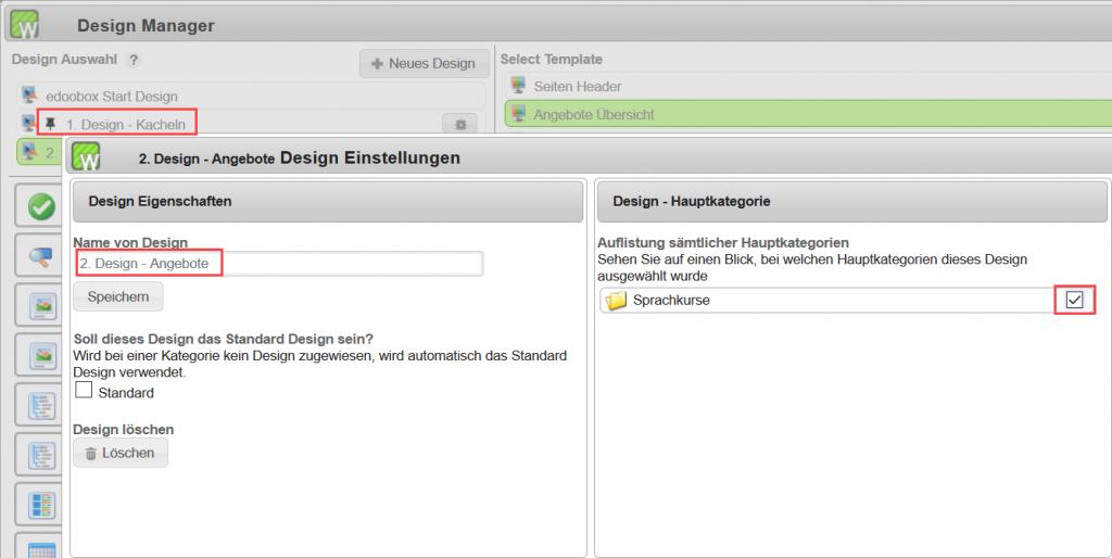 Die Kachelansicht im Design Manager nutzen
