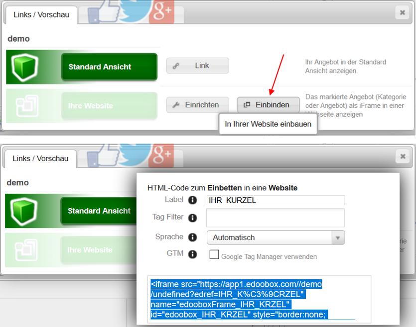 Edoobox Auf Eine Wordpress Website Implementieren Plugin Iframe