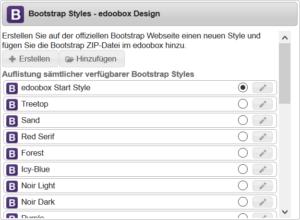 Gewünschten Bootstrap Style auswählen
