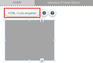 HTML-Code eingeben