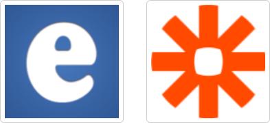 edoobox und Zapier Logo mit Rand