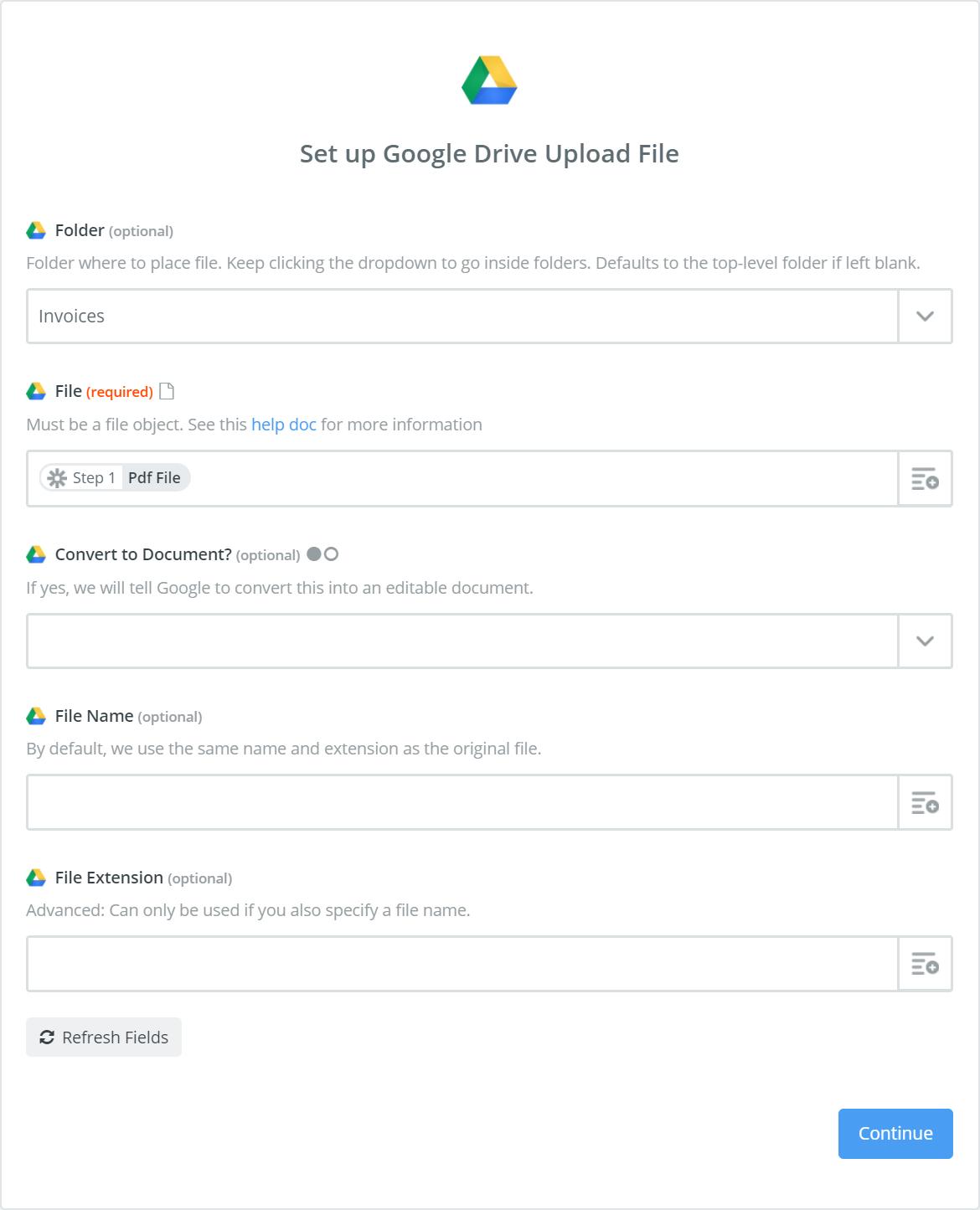 Google Drive Set up