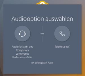 Audiooption für das GoToMeeting auswählen