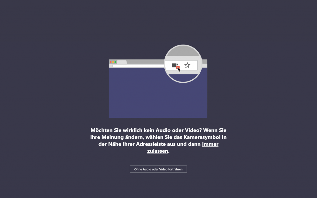 Audio und Video zulassen